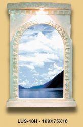 Zrcadlo v Antickém stylu s osvětlením