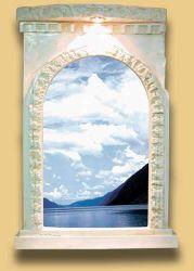 Zrcadlo v Antickém stylu s osvětlením Zakázková výroba