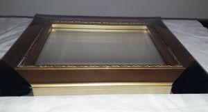 Zrcadlo - zlatý rám 28.5x33.5cm