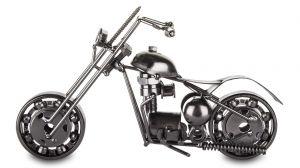 Kovový motocykl en