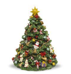 Rotující vánoční strom s hudební krabicí
