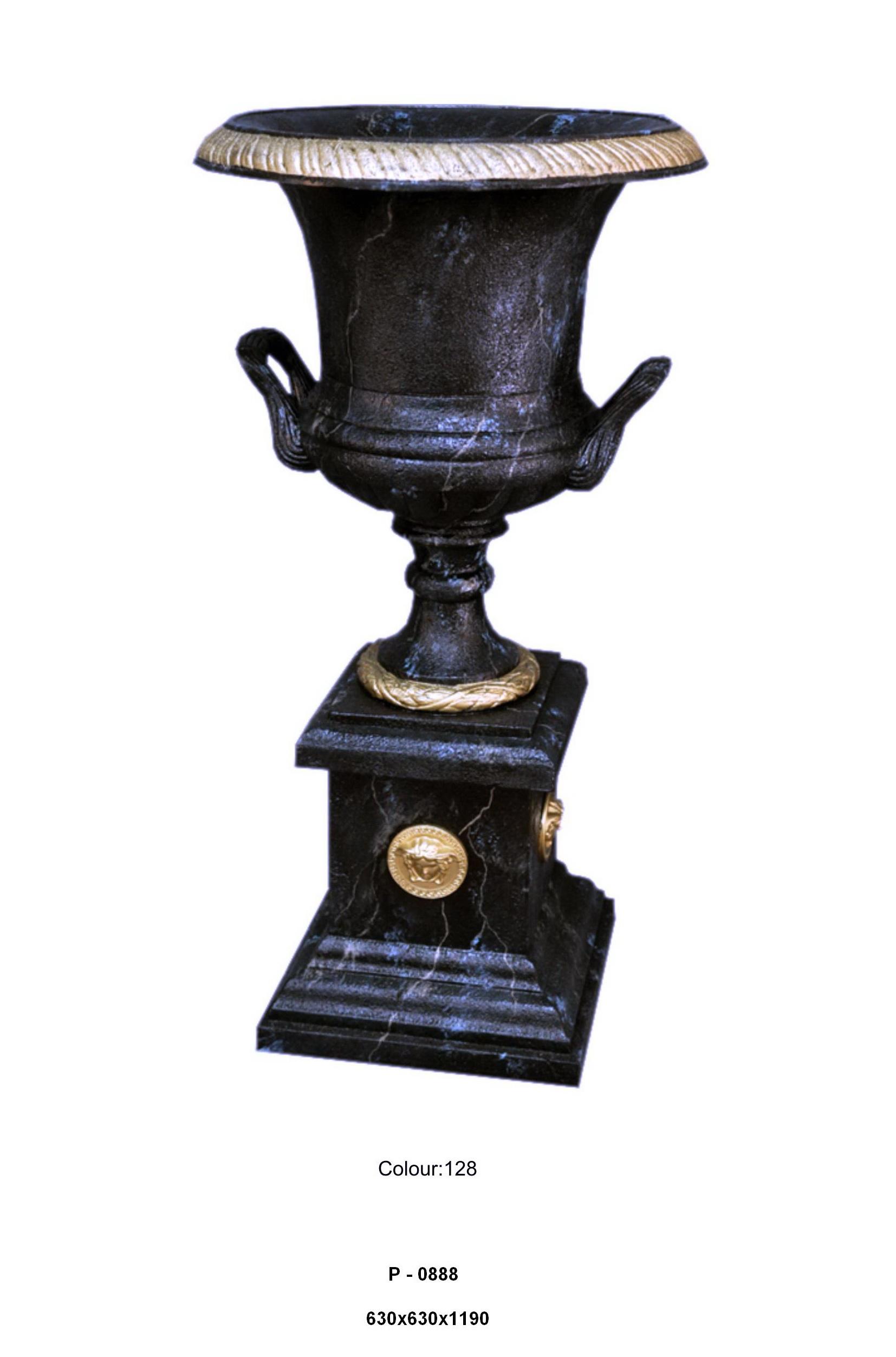 Váza na podstavci / znak Versace / Zakázková výroba