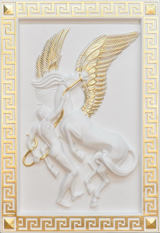 Reliéf - Řecký motiv / Pegas Zakázková výroba