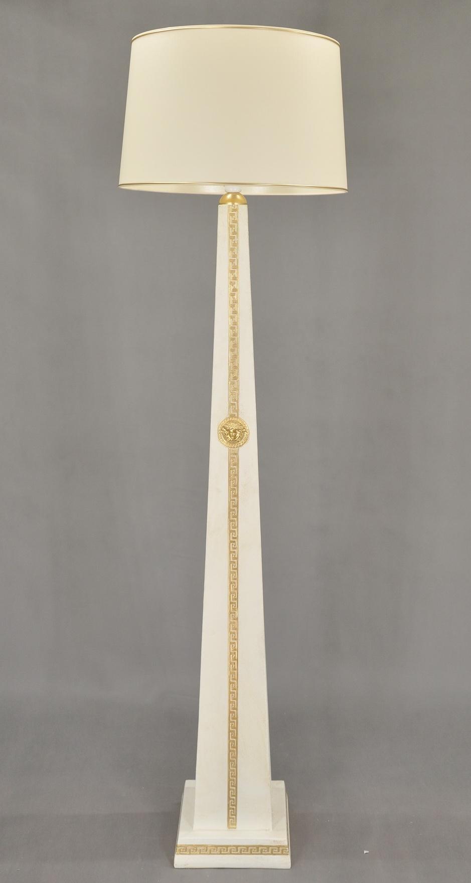 Lampa vysoká / styl Versace / 187 cm Zakázková výroba