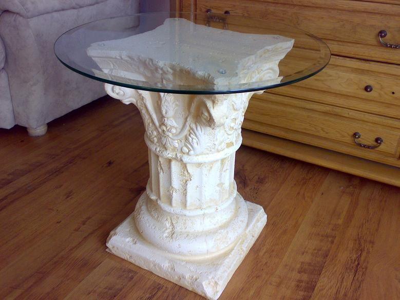 Antický Sloupový stolek / 54cm Zakázková výroba