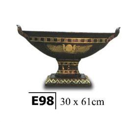 Egyptská zdobená mísa  / 30 x 61 cm