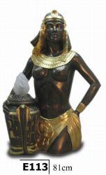 Egyptská socha - Lampa  / 81 cm