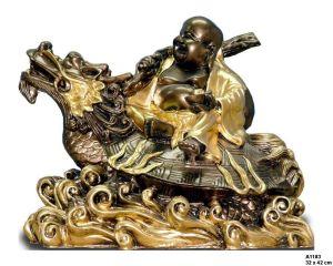 Budha na drakovi  / 32 x 42 cm